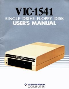 VIC-1541_Single_Drive_Floppy_Disk_Users_Manual