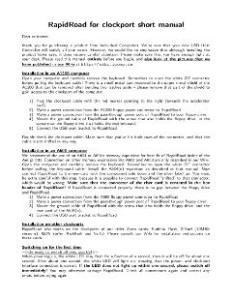 IndividualComputers_RapidRoad_clockport_Manual
