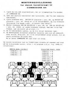 Monteringsvejledning_for_dansk karaktersaet_til_ Commodore_64_(da)