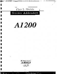 Commodore_A1200_Service_Addendum