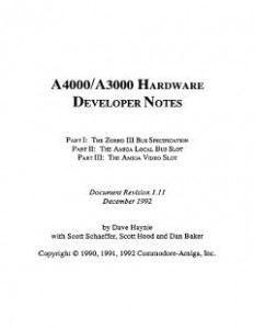 Commodore_A4000-A3000_Hardware_Developer_Notes_v1.11