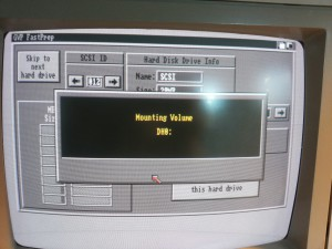 Prepping a CF Card in SCSI Card reader