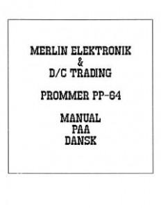 MerlinDataElektronik_PP64_Manual_(da)