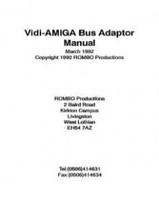 ROMBO_Vidi-Amiga_Bus_Adaptor_Manual