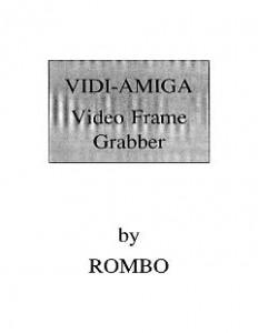ROMBO_Vidi-Amiga_Video_Frame_Grabber_Manual