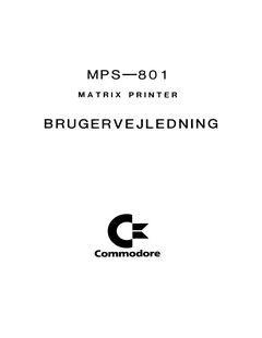 Commodore_MPS-801_Brugervejledning_(da)