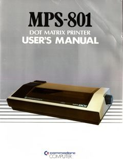 Commodore_MPS-801_Users_manual