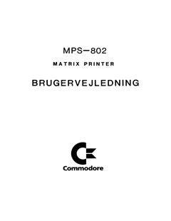 Commodore_MPS-802_Brugervejledning_(da)